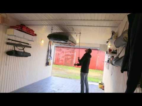 подъемник для подвески лодки в гараже