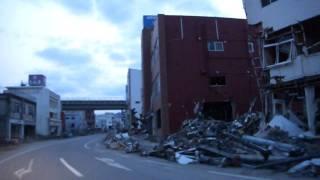 津波で甚大な被害を受けてゴーストタウン化した釜石市街地