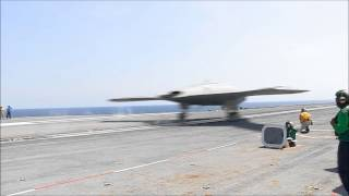 X 47B Historic Drone Successful Carrier Test