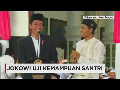 Lagi, Jokowi Uji Kemampuan Santri (Presiden Jokowi kembali Tertawa Lepas) #1