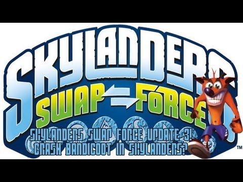 New Skylanders Swap Force Information! (Update 3!) Crash Bandicoot In Skylanders & The Game's Story?