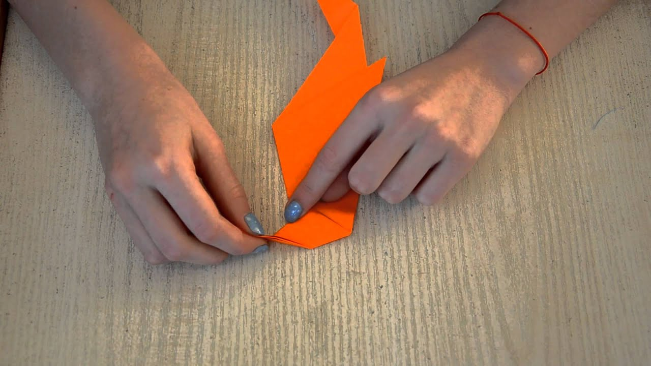 Как сделать попугая из бумаги из оригами