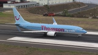 Madeira Airport Thomson Airways Boeing 737-800 Take Off ;-)