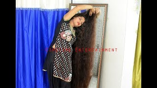 Indian Rapunzel Varsha ,The Black & Beautiful Long Hair Cascade
