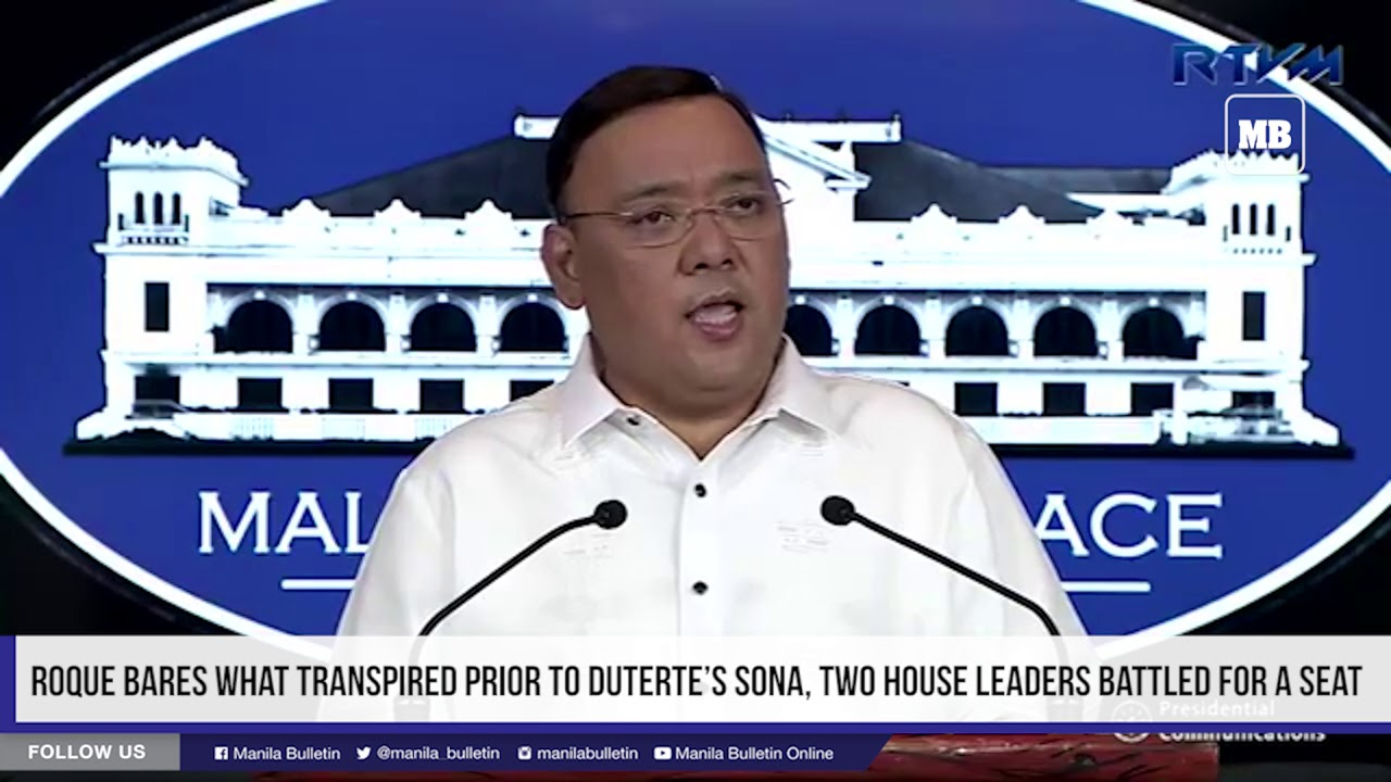 Roque bares what transpired prior to Duterte's SONA, two House leaders battled for a seat