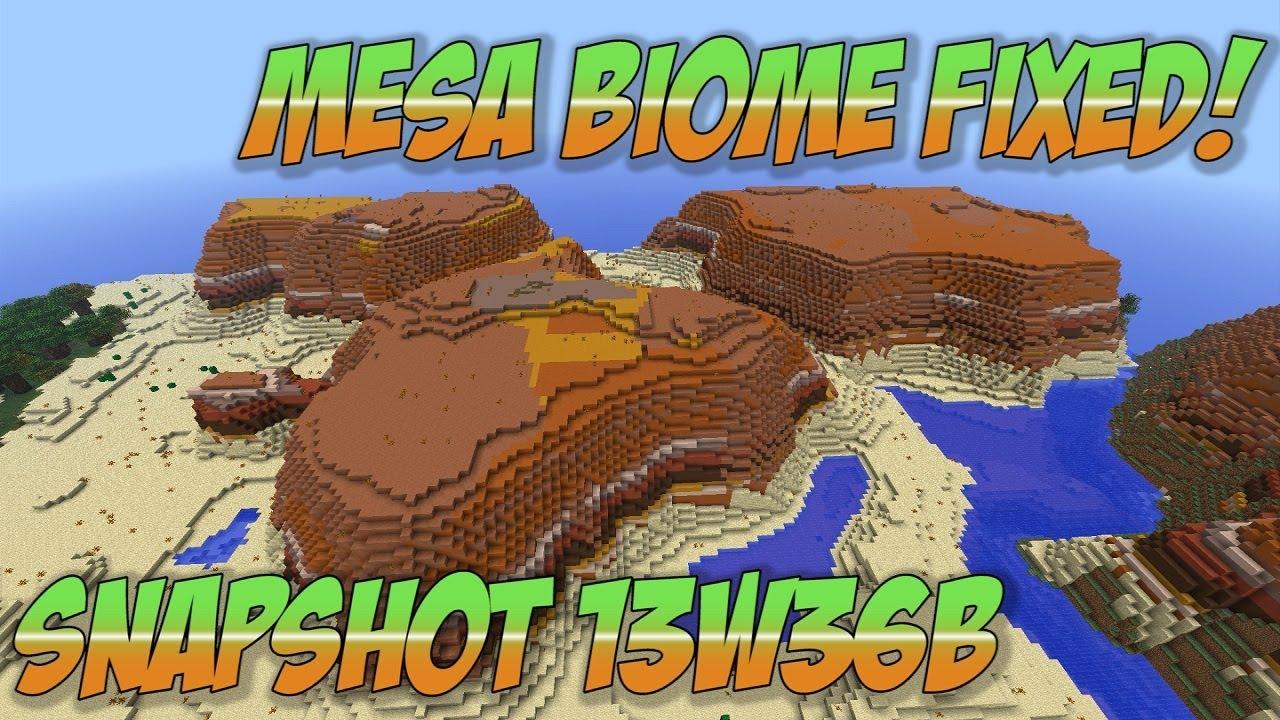 Minecraft 1.7 Biomes Mesa Minecraft 1.7 Snapshot 13w36b