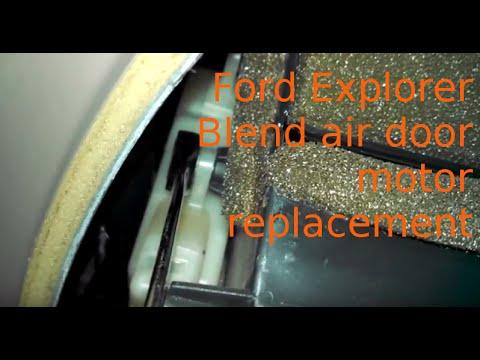 Blend air door actuator replacement 2004 Ford Explorer install blend air door motor