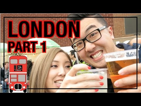LONDON TRAVEL VLOG - Part 1 | Best Food Market EVER