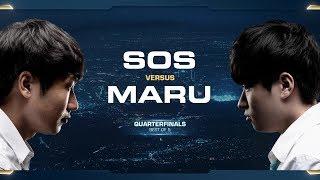 Maru vs sOs TvP - Quarterfinals - 2018 WCS Global Finals - StarCraft II