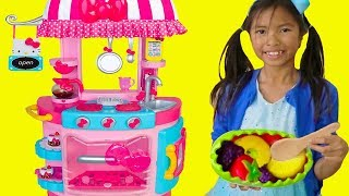 Wendy Pretend Play w/ Hello Kitty Kitchen &Tea Party Kids Food Toys