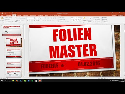 Folienmaster in PowerPoint verwenden - Tutorial [Deutsch, German, 2013, 2016]