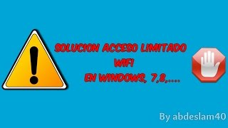 ACCESO LIMITADO EN WINDOWS 7 SOLUCION FUNCIONA 2014