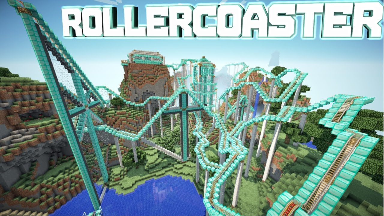 How To Build A Roller Coaster In Minecraft Pocket Edition
