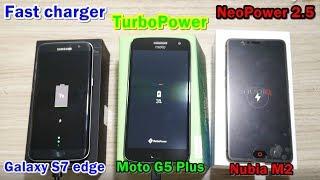 เทสกันชัดๆ ! Quick charge แบรนด์ไหนไวสุด (S7 edge VS G5 Plus VS Nubia M2)
