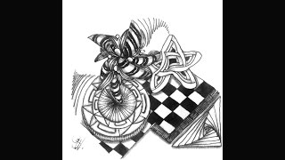Weekly Zentangle® Tangle Video-AURAKNOT-June 1-7, 2015