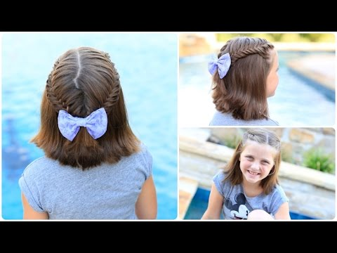 Laced Fishtail Tieback & Surprise Visitor | Short Hairstyles