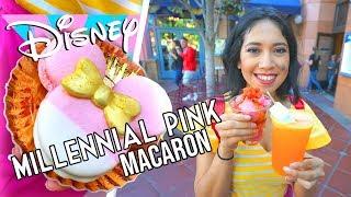 Millennial Pink Minnie Mouse Macaron and Tasty Frozen Treats | Disneyland Resort