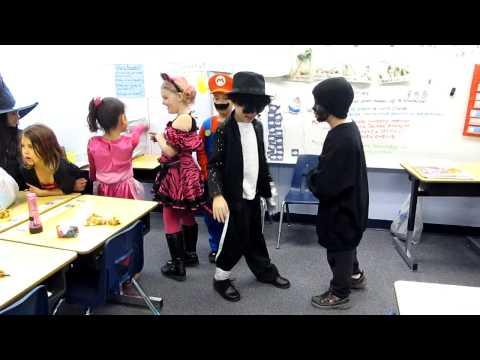 Boy dances to Michael Jackson Billie Jean at School