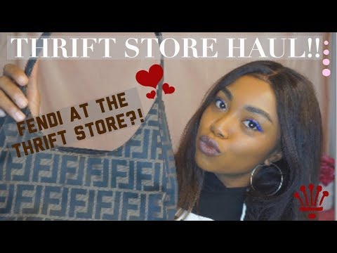 THRIFT STORE HAUL! | Fendi At The Thrift Store?!