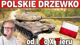 POLSKIE DRZEWKO - Od I do X Tieru - World of Tanks