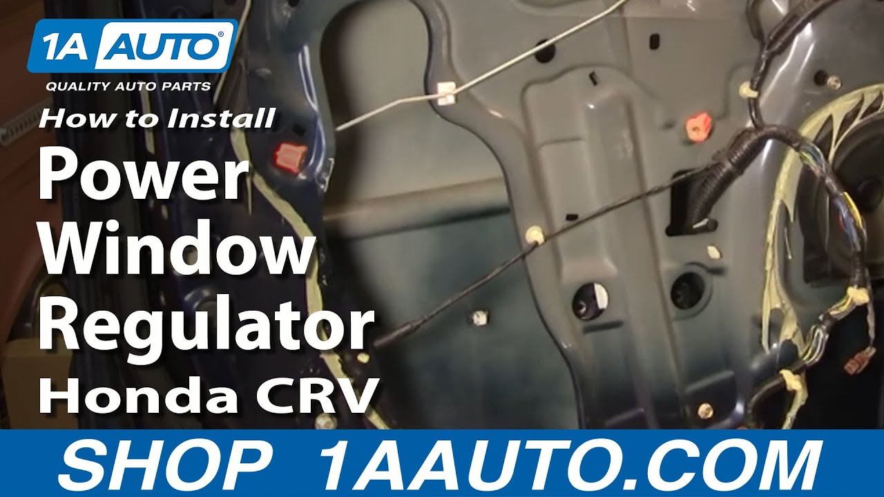 How to install replace rear power window regulator honda for 04 honda accord window regulator