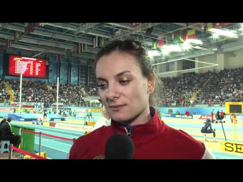 Yelena Isinbayeva wins Pole vault champ in Istanbul World Indoors 2012