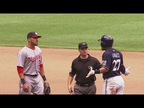 Benches clear after Gomez's slide