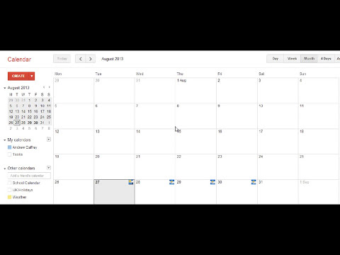 Creating a one week school timetable in iCal