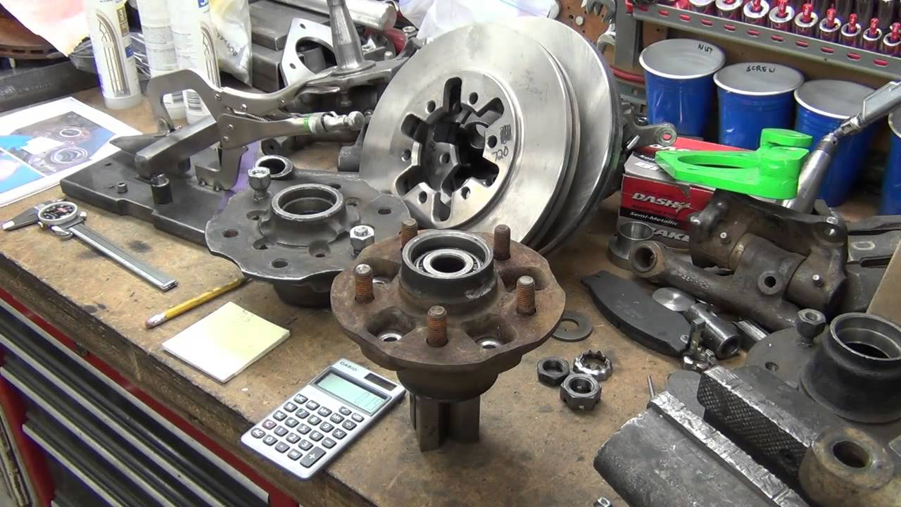 Toyota 5 Lug Conversion For D21 Hardbody Spindles Youtube
