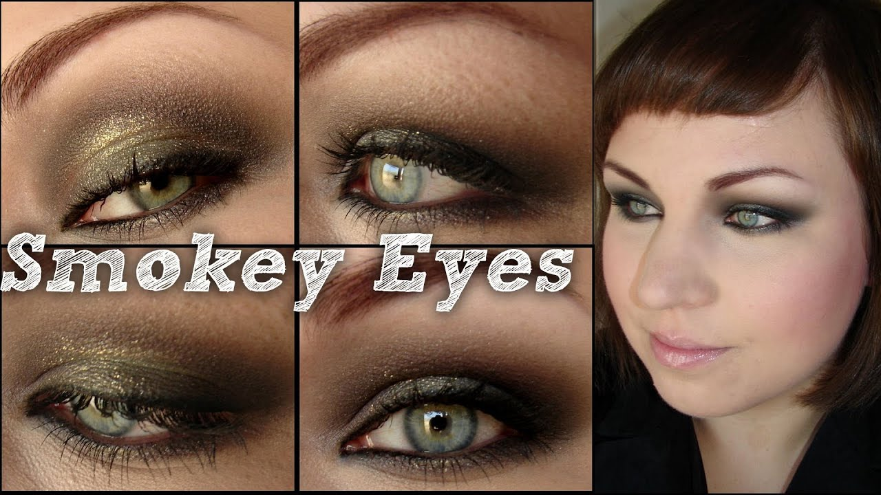 smokey eyes tutorial dramatisch gold schwarz. Black Bedroom Furniture Sets. Home Design Ideas