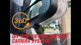 DIY side view blind spot camera system in a Mercedes Sprinter