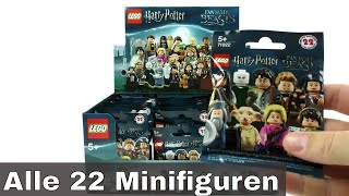 Alle 22 LEGO Harry Potter & Fantastic Beasts Minifiguren / Display unboxing / 71022