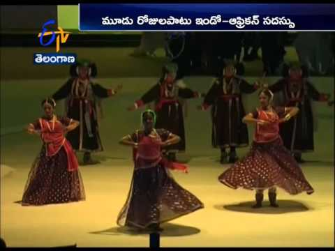 Eye Catchy Scenes At Indo-African Summit As Several Cultural Programs Draws Attention Of Leaders