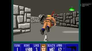 Wolfenstein 3D  - Hardest - E1 F1 (Playthrough)