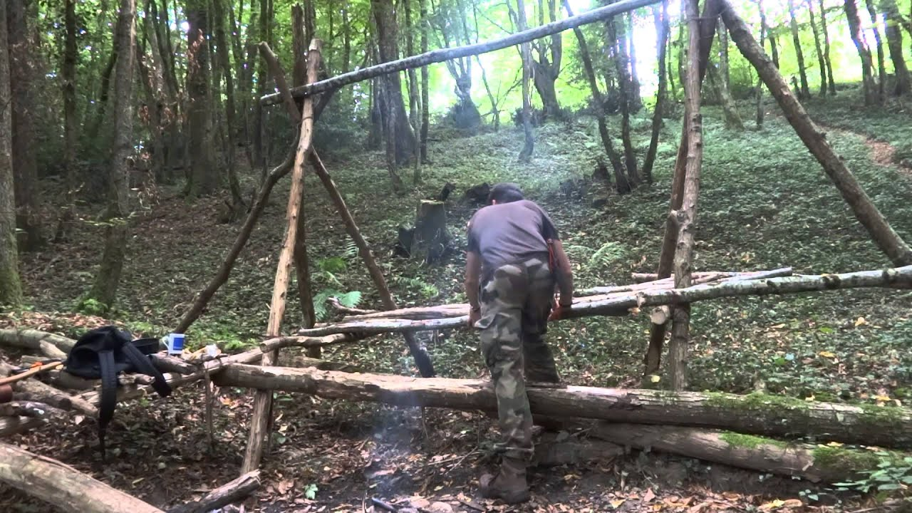 Building A Raised Bed Shelter Amp Bushcraft Tea Youtube
