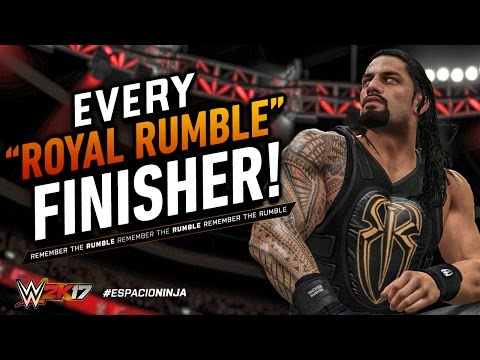 WWE 2K17: All Royal Rumble Finishers!