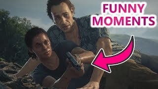 """UNCHARTED : LOST LEGACY   FUNNY """"SAM"""" & """"NADINE"""" MOMENTS   HD 2017"""