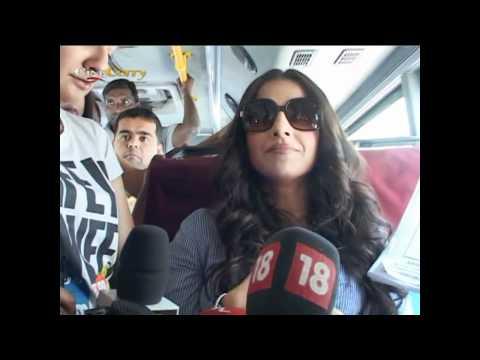Vidya Balan Travels On Best Bus To Promote Her Film Kahaani