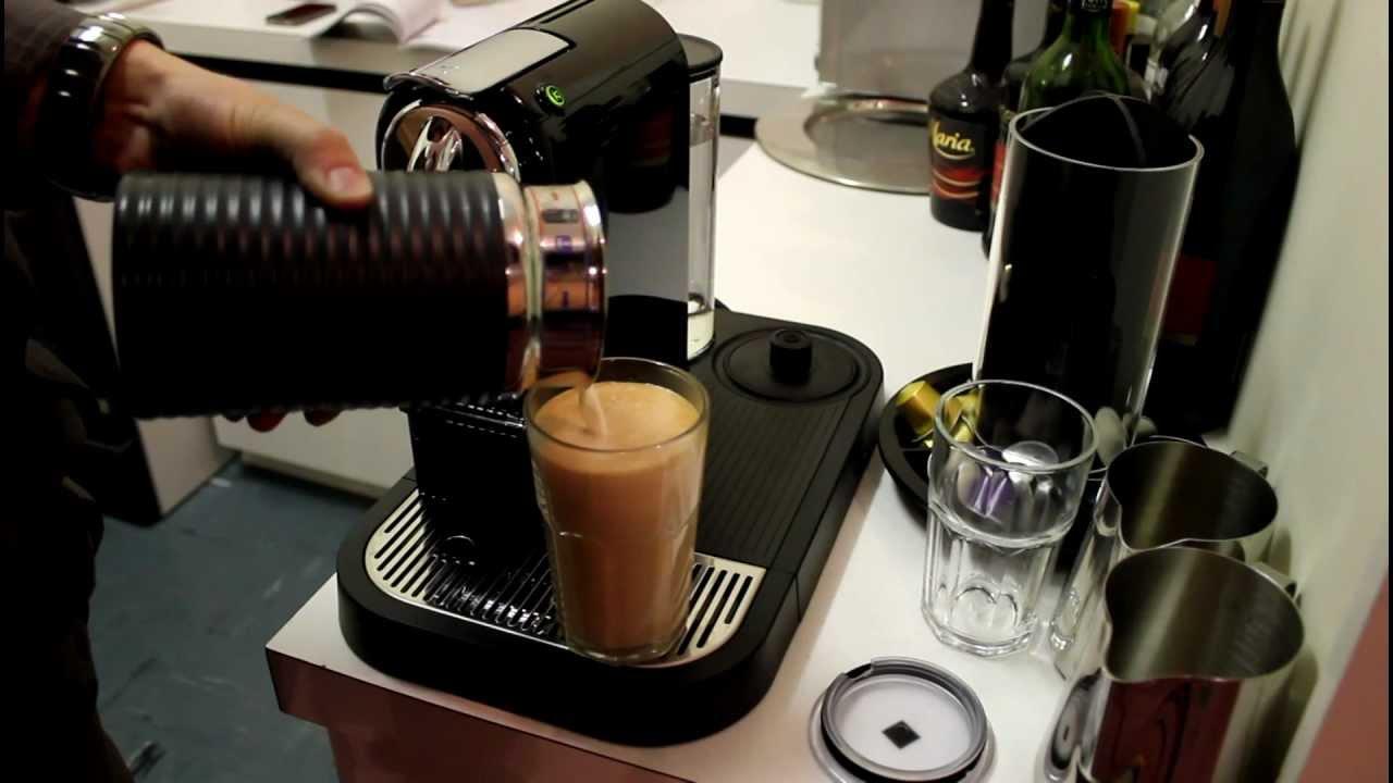 De Longhi Citiz Nespresso & Milk Frother - Test Run - YouTube