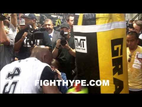 FLOYD MAYWEATHER MEDIA DAY WORKOUT HIGHLIGHTS
