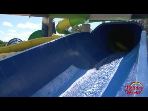 Hyena Falls at Holiday World & Splashin  Safari (in HD)