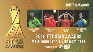 Who will be the 2016 Male Table Tennis Star?
