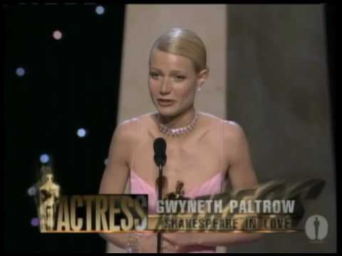 Gwyneth Paltrow winning an Oscar® for