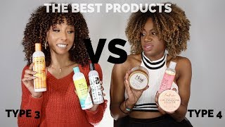 THE BEST PRODUCTS FOR : Type 3 Curls vs Type 4 Curls