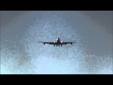 Rare Boeing 747SP of Bahrain Amiri Flight landing runway 14 at ZRH
