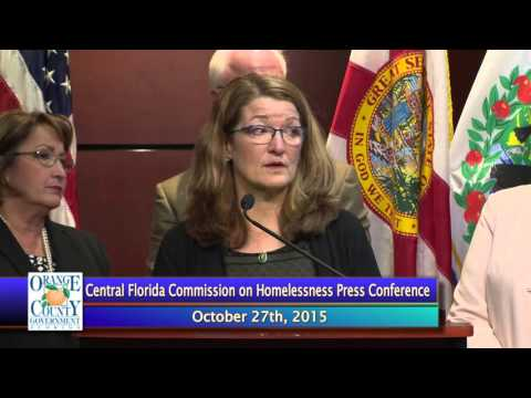 Central Florida Commission On Homelessness Press Conference October 27,2015