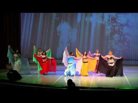 Отчетный концерт 30 мая 2015 года в Концертном зале отеля Санкт-Петербург.Танец живота. Хореограф - Ирина Строганова.