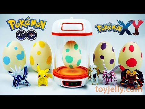 Pokemon GO Surprise Eggs Toys Slime Clay With Pokemon Incubator Playset