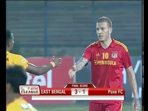 East Bengal vs Pune FC Match Highlights - April 12, 2014 [3 - 1]