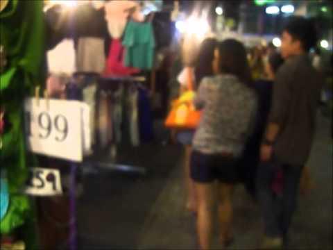 Siam Square Evening Sidewalk Shopping
